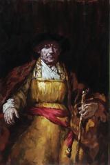 """<h5>Rembrandt</h5><p>Oil on Canvas, 57½"""" x 38¼""""(146 x 97cm)</p>"""