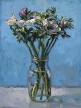 "<h5>Anémones blanches</h5><p>Oil on Canvas, 51¼"" x 38¼"" (130 x 97cm)</p>"