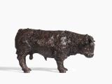 "<h5>Bull with Flowers</h5><p>Bronze Resin, 14½"" x 24"" x 8"" (37 x 61 x 20.3cm)</p>"