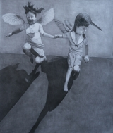 """<h5>If These Wings Should Fail Me </h5><p>Charcoal on Paper, 48"""" x 57"""" (122 x 144.8cm)</p>"""