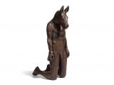 """<h5>Kneeling Horse with Apple </h5><p>Bronze Resin, 47"""" x 20"""" x 24"""" (119.4 x 50.8 x 61cm)</p>"""
