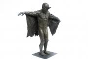"<h5>Birdman with Cloth Wings</h5><p>Bronze, 45½"" x 40"" x 15"" (108 x 102 x 38cm)</p>"