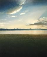 """<h5>Au jardin des deux rives</h5><p>Oil on canvas, 78¾"""" x 63"""" (200 x 160cm)</p>"""