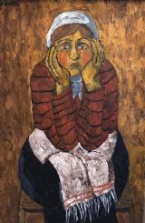 "<h5>Portrait of a Woman</h5><p>Oil on canvas, 39¼"" x 27½"" (100 x 70cm)</p>"