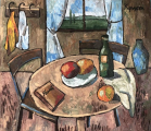 """<h5>Still Life with a Window</h5><p>Oil on canvas, 31"""" x 27½"""" (79 x 70cm)</p>"""