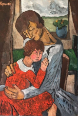 """<h5>Mother and Daughter</h5><p>Oil on canvas, 39¼"""" x 27½"""" (100 x 70cm)</p>"""