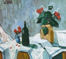 """<h5>Still Life with Flowers</h5><p>Oil on canvas, 35½"""" x 31½"""" (90 x 80cm)</p>"""
