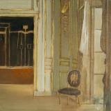 """<h5>Antique Cabinet</h5><p>Oil on linen, 10"""" x 10"""" (25 x 25cm)</p>"""