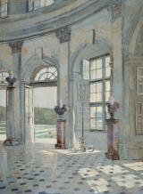 "<h5>Le Foyer</h5><p>Oil on canvas, 26"" x 19"" (66 x 48cm)</p>"