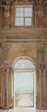 """<h5>Spring at Vaux le Vicomte</h5><p>Oil on canvas, 48"""" x 20"""" (122 x 51cm)</p>"""