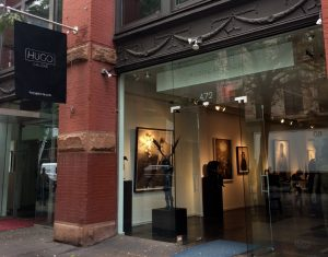Photograph of Hugo Galerie from the sidewalk on West Broadway, NYC.