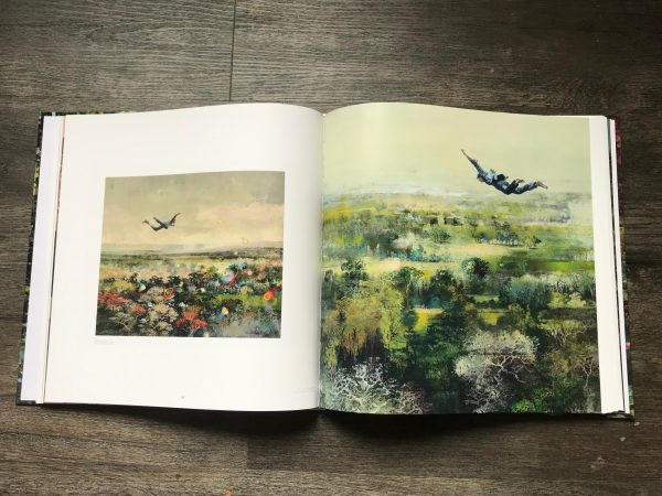 Interior image of the book Neverlandscape, a collection of works by Eric Roux-Fontaine.
