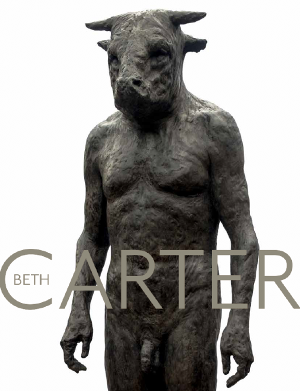 """Beth Carter's """"There Is No Dark Until Something Shines"""" 2020 Hugo Galerie exhibition catalog cover."""