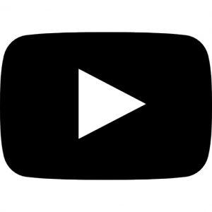 Black and white YouTube logo.