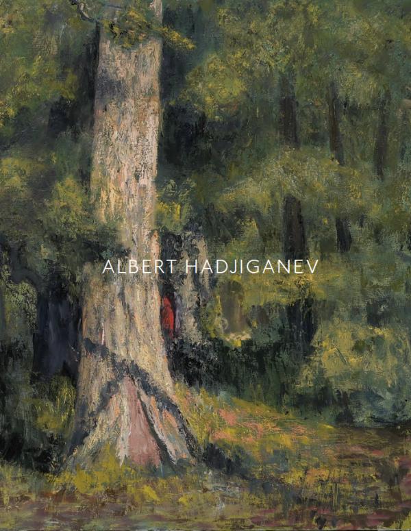 """Albert Hadjiganev """"De l'Autre Côté de l'Eau"""" 2020 Hugo Galerie exhibition catalog cover."""