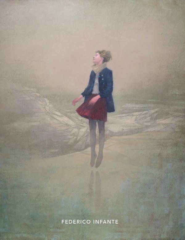 """Federico Infante """"Onírica"""" 2019 Hugo Galerie exhibition catalog cover."""