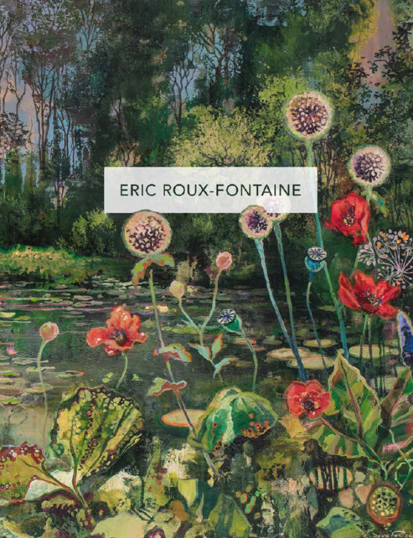 """Eric Roux-Fontaine's """"Les jardins d'eaux et de feu"""" 2020 Hugo Galerie exhibition catalog cover."""