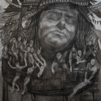 Charcoal drawing by Hugo Galerie artist Beth Carter.