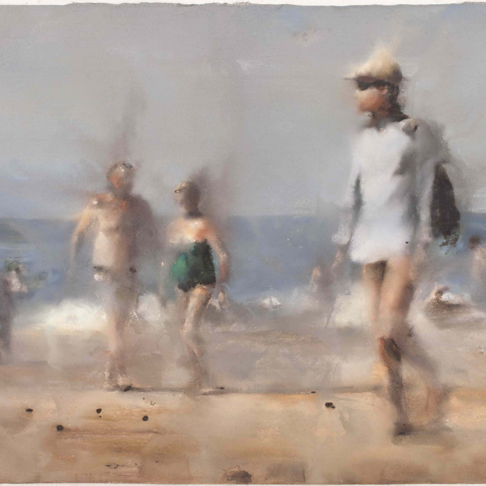 Pastel on paper artwork by Hugo Galerie artist Yves Crenn.