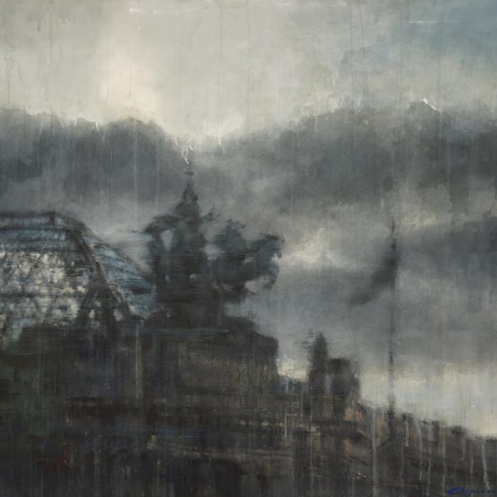 Watercolor painting by Hugo Galerie artist Chizuru Morii Kaplan.