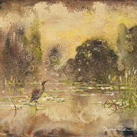 Mixed media painting by Hugo Galerie artist Eric Roux-Fontaine.