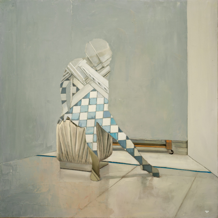 """Arlequine"", oil on canvas, 36"" x 36"" (91.4 x 91.4cm)"