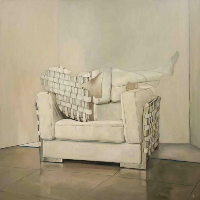 """""""Armchair"""", oil on canvas, 63"""" x 63"""" (160 x 160cm)"""
