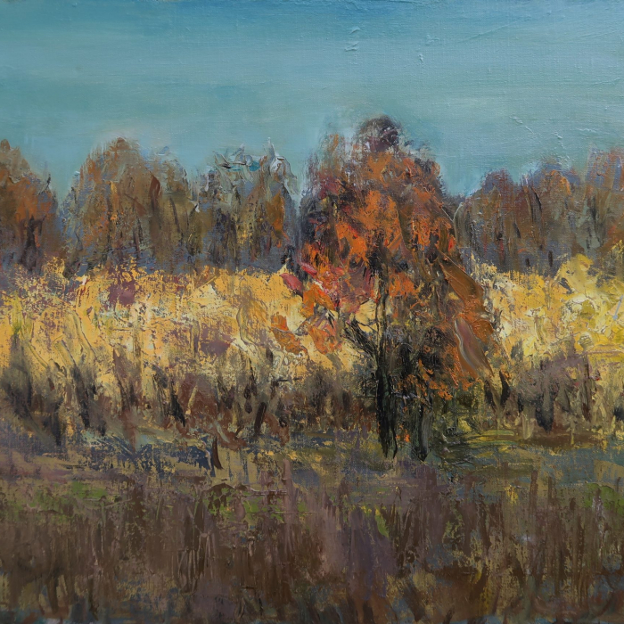 """""""Automne"""", oil on canvas, 21¼"""" x 31¾"""" (54 x 81cm)"""
