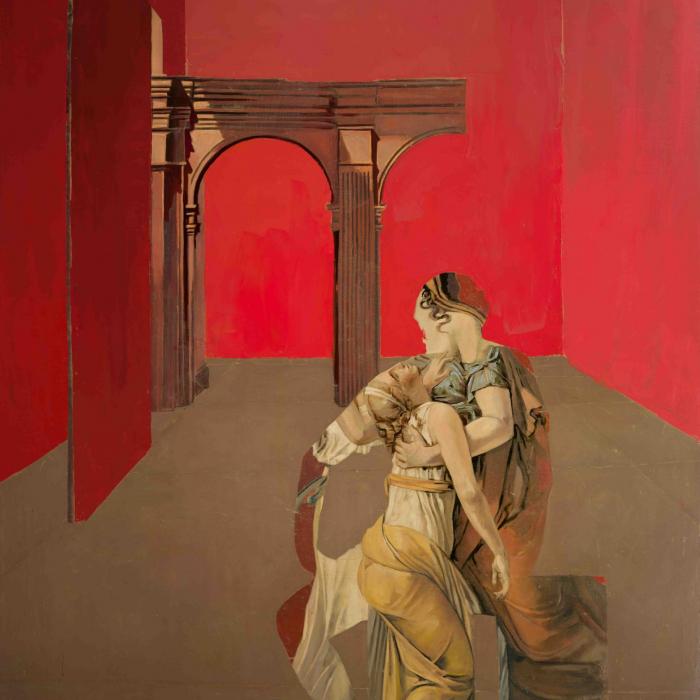 """Brutus' Family"", oil on canvas, 78"" x 56"" (198 x 142.3cm)"