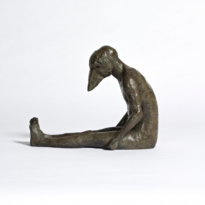 """""""Crowmask II"""", bronze, 9½"""" x 14"""" x 7"""" (24 x 35.5 x 17.8cm)"""