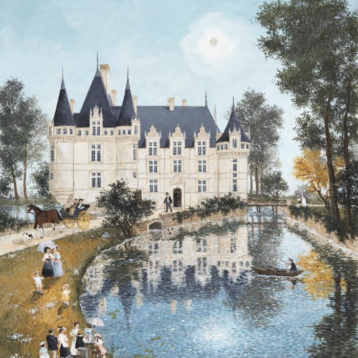 """Chateau d'Azay le rideau"", acrylic on board, 25½"" x 21¼"" (65x54 cm)"