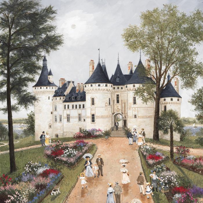"""""""Chateau de Chaumont sur Loire"""", acrylic on board, 25½"""" x 21¼"""" (65 x 54cm)"""