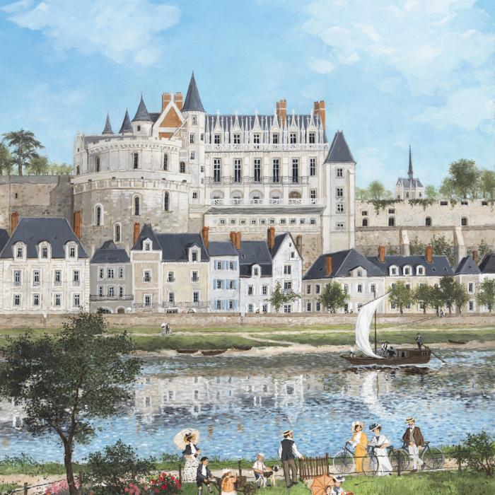 """""""Chateau d'Amboise"""", acrylic on board, 25½"""" x 21¼"""" (65 x 54cm)"""
