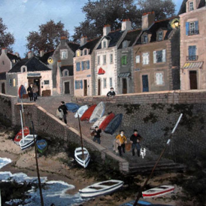 """""""Petit matin breton"""", acrylic on canvas, 23"""" x 17"""" (58 x 43cm)"""