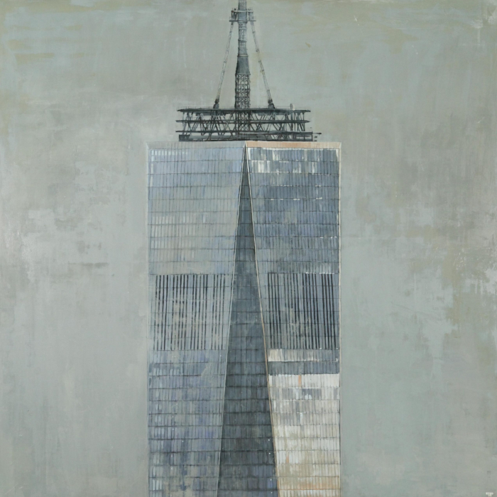 """""""Freedom Tower"""", oil on linen, 59"""" x 59"""" (150 x 150cm)"""