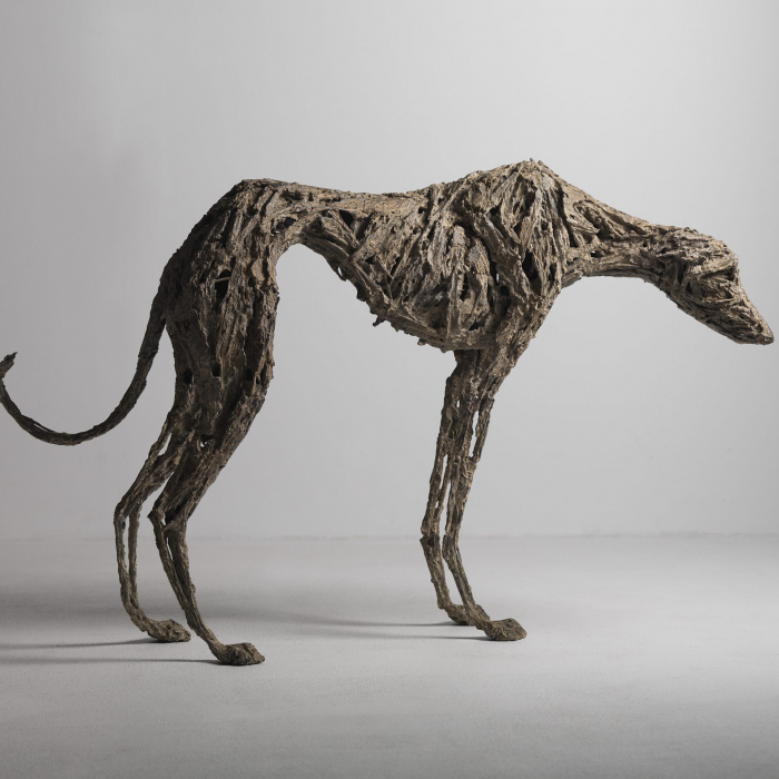 """Hang Dog"", bronze, 32¼"" x 48¾"" x 8½"" (81.9 x 123.8 x 21.6cm)"