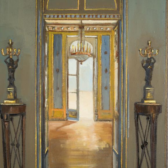 """""""Hotel de Bourrienne"""", oil on linen, 16"""" x 12"""" (41 x 30cm)"""