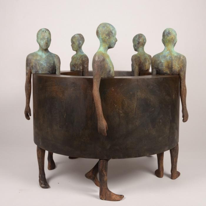 """""""Big Sin Fin III"""", bronze and iron, 43"""" x 35½"""" x 43"""" (110 x 90 x 110cm)"""