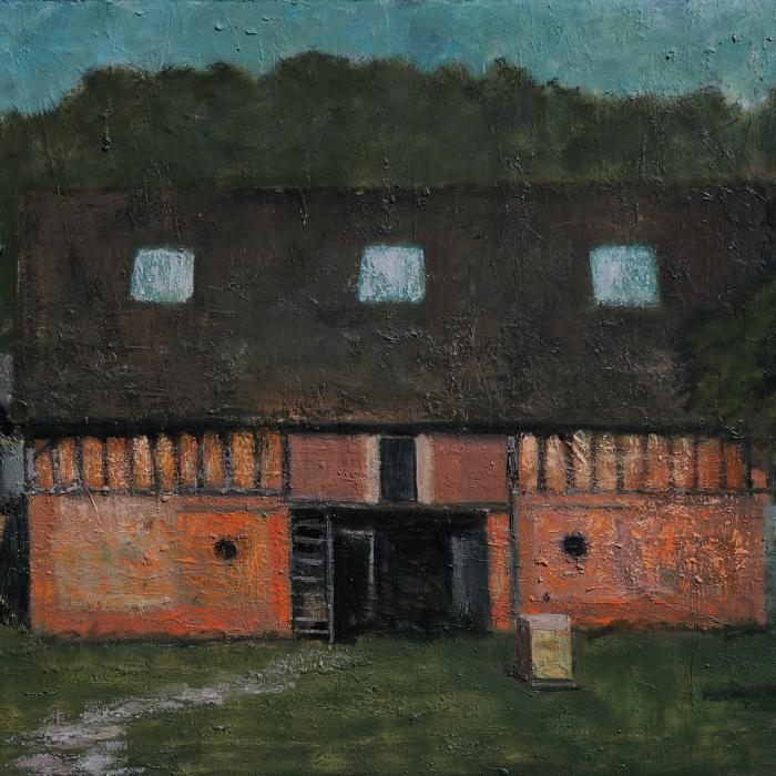 """""""L'atelier au soir"""", oil on canvas, 44¾"""" x 57½"""" (114 x 146cm)"""