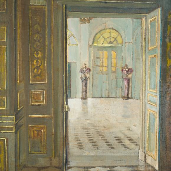 """Little Versailles"", oil on linen, 16"" x 12"" (41 x 30cm)"