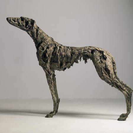 """Lurcher"", bronze, 48¾"" x 40½"" x 11¾"", (124 x 103 x 30cm)"