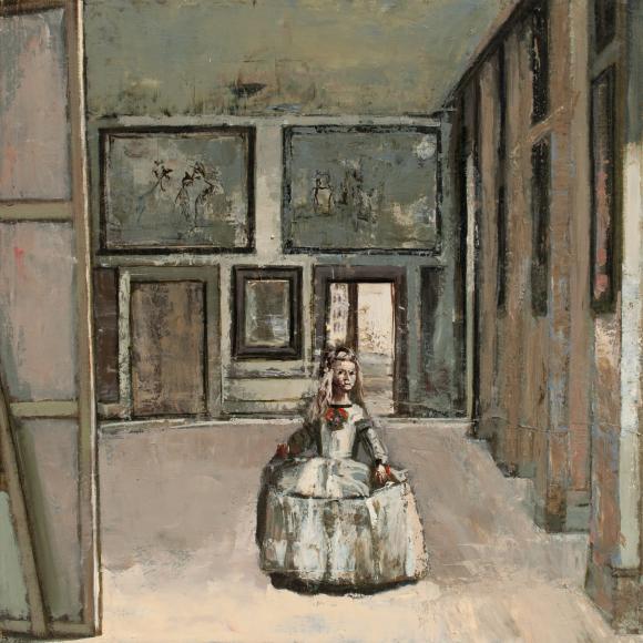 """Menines"", oil on canvas, 20"" x 20"" (50.8 x 50.8cm)"