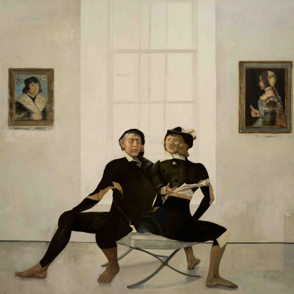 """On the X Chair"", oil on canvas, 64"" x 78"" (162.5 x 198cm)"