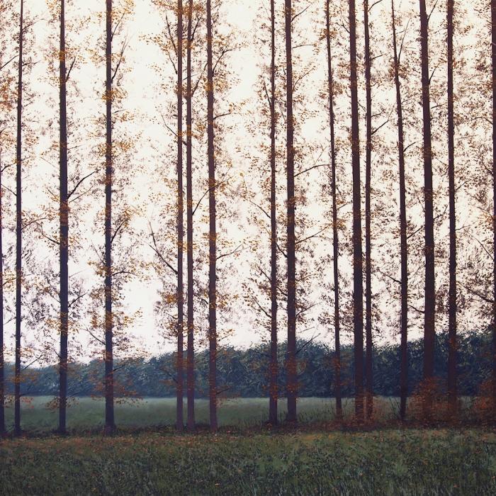 """""""Peupleraie en Automne"""", oil on canvas, 63"""" x 94½"""" (160 x 240cm)"""
