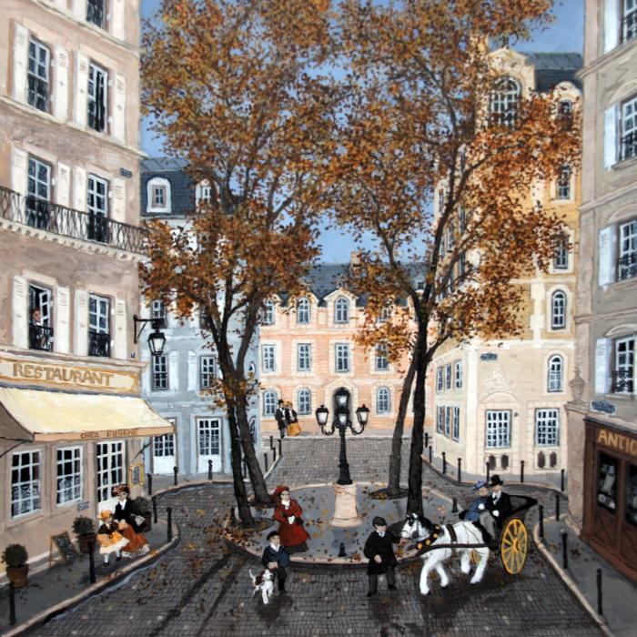 """Place Furstenberg"", acrylic on board, 15¾"" x 15¾"" (40 x 40cm)"