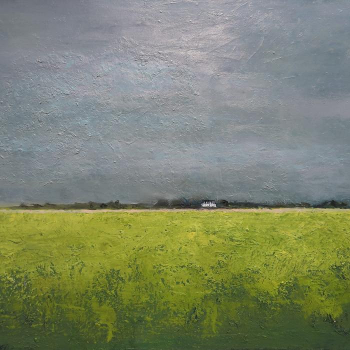 """""""Printemps en hiver II"""", oil on canvas, 38"""" x 51"""" (97 x 130cm)"""