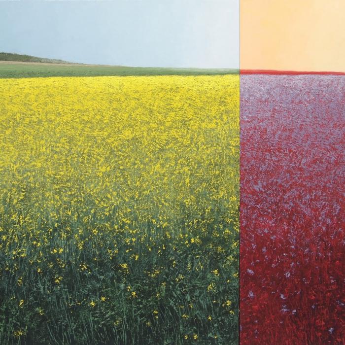 """""""Le printemps et sa variation complémentaire"""", oil on canvas, 51"""" x 83"""" (130x211cm)"""