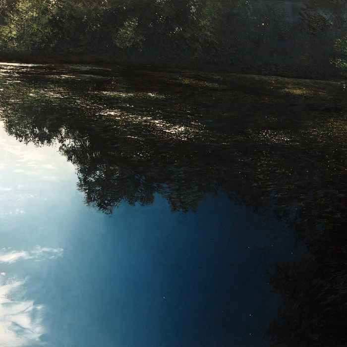 """""""Réflexion anachronique"""", oil on canvas, 55"""" x 39½"""" (140 x 180cm)"""