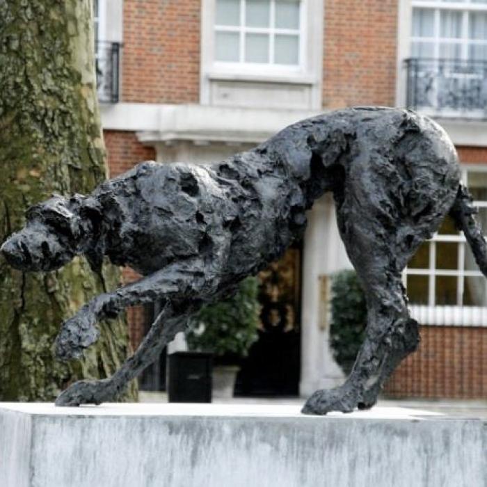 """""""Sight Hound"""", bronze, 32¼"""" x 67¾"""" x 20"""" (82 x 172 x 50.8cm)"""