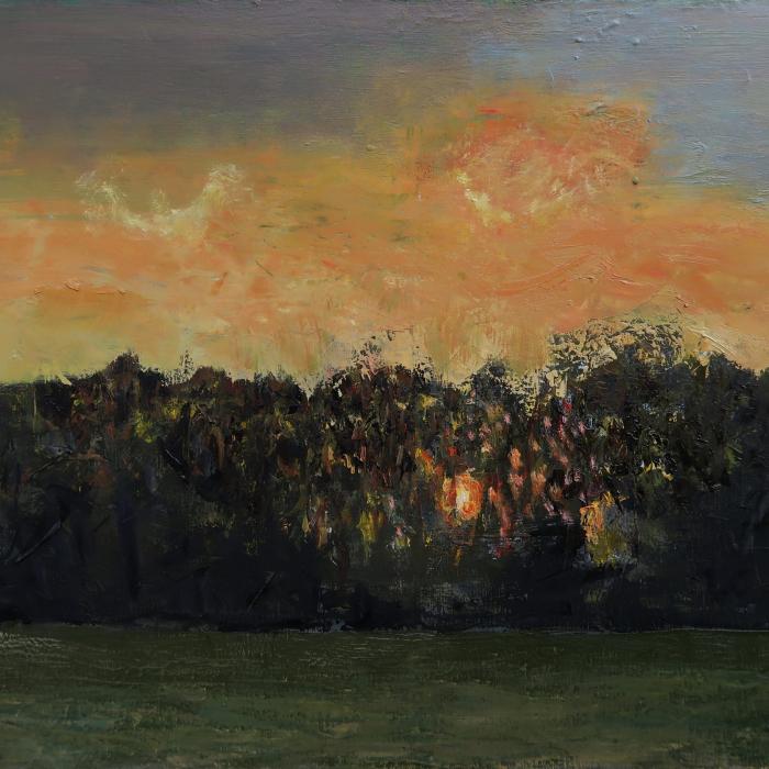 """""""Soleil à travers la forêt"""", oil on canvas, 23½"""" x 31¾"""" (60 x 81cm)"""